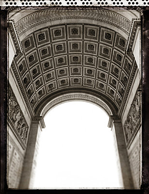 Architecture detail on underside of Arc de Triomphe - p1072m829298 by Neville Mountford-Hoare