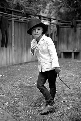 Boy Top Hat and Jacket - p1260m1073066 by Ted Catanzaro