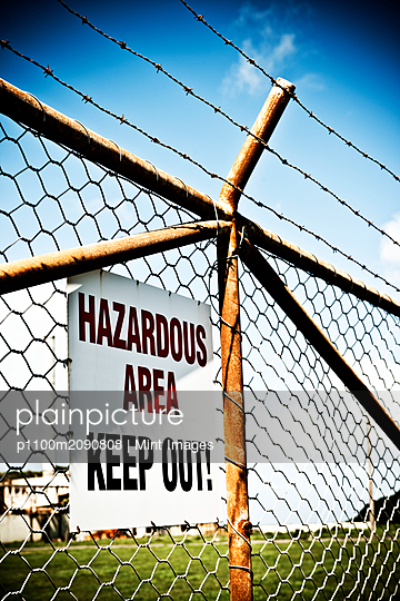 Warning Sign - p1100m2090808 by Mint Images