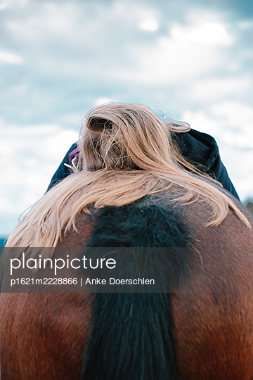 Girl on a horse - p1621m2228866 by Anke Doerschlen