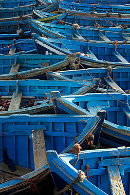 Morocco, Essaouira. The traditional fishing port. Influenced heavily both physically and culturally from the historic port of Essaouira and is a popular tourist destination for both locals and incoming tourists alike - p6521417 by Mark Hannaford