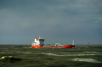 Storm at Rotterdam harbour - p1132m1015212 by Mischa Keijser