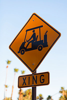 A sign for golf carts crossing - p301m730720f by Patrick Strattner
