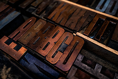 Old Type case, Printing industry - p1523m2090049 by Nic Fey