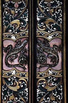 Geckos auf einer Tür - p1038m931511 von BlueHouseProject