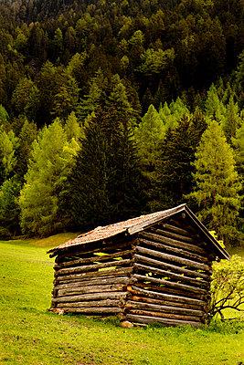 Berghütte auf grüner Wiese - p248m669092 von BY