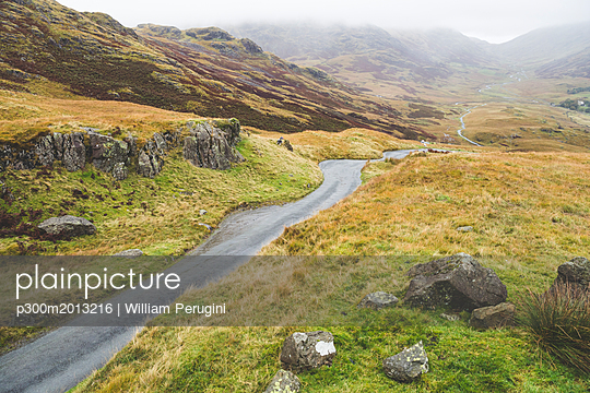 United Kingdom, England, Cumbria, Lake District, Hardknott pass - p300m2013216 by William Perugini