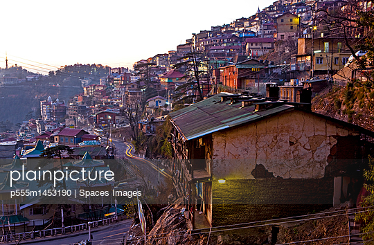 Hillside Homes in Shimla, India