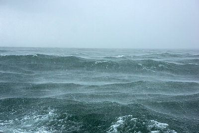 Stormy sea - p312m1471644 by Malcolm Hanes