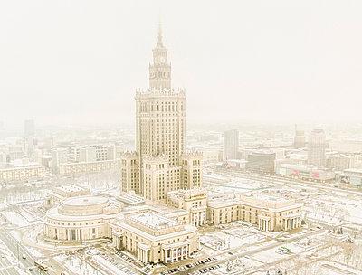 Warschau, Kulturpalast - p999m1015453 von Monika Kluza