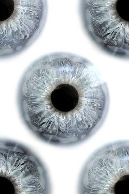 Blue glass eyes - p4500473 by Hanka Steidle