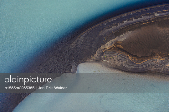 Abstract detail of the river  Ölfusá - p1585m2285385 by Jan Erik Waider