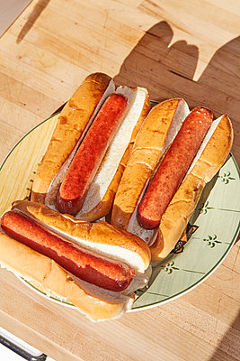Three hot dogs - p1673m2254433 by Jesse Untracht-Oakner