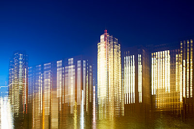 Illuminated office buildings - p464m2157782 by Elektrons 08