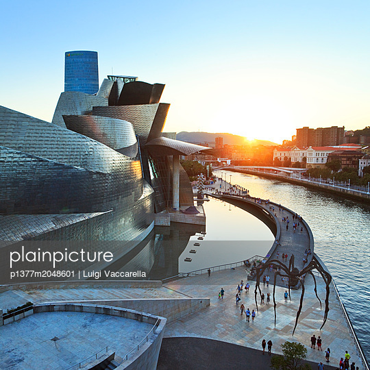 The famous building designed by architect Frank Gehry - p1377m2048601 by Luigi Vaccarella