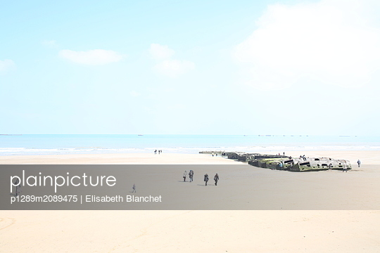 Bunker at the beach - p1289m2089475 by Elisabeth Blanchet