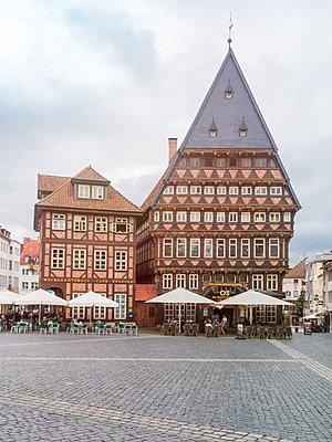 Knochenhaueramtshaus, Rolandbrunnen, Hildesheim - p1332m1488580 von Tamboly