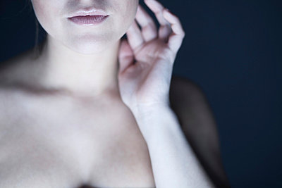 Neck of a young woman - p341m661841 by Mikesch