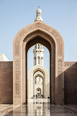 Tourists in Sultan Qaboos Grand Mosque - p1126m1362033 by Tina Sturzenegger