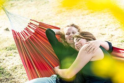 In the hammock - p1437m2107327 by Achim Bunz