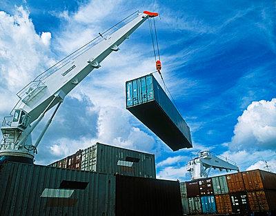 Container Docks, Dublin Docks, Dublin, Ireland - p4428706 by The Irish Image Collection