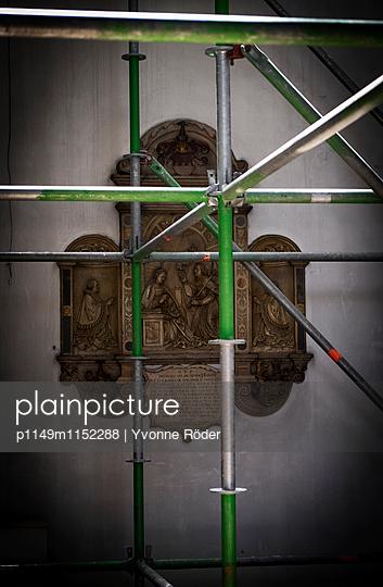 Baugerüst in der Kirche - p1149m1152288 von Yvonne Röder