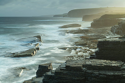 Dramatic coastline near the Brough of Birsay, Orkney, Scotland, United Kingdom, Europe - p871m2209426 by Adam Burton