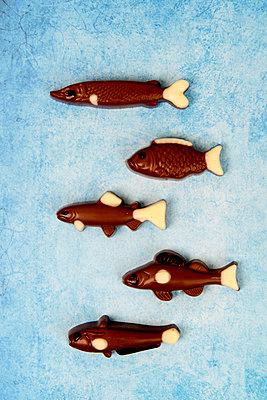 Fünf Schokoladenfische - p451m2086921 von Anja Weber-Decker