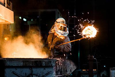 Stahlarbeiter - p1046m1138220 von Moritz Küstner
