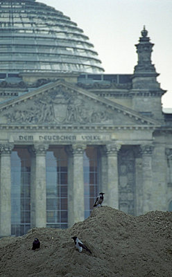 The Reichstag building in Berlin - p2400362 by Valerie Wagner