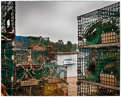 Lobster Traps Number 2 - p1154m1110250 by Tom Hogan