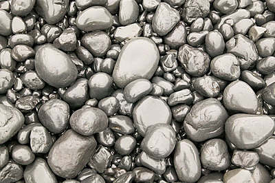 Grey pebbles - p9248665f by Image Source
