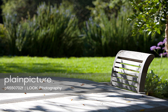 Wooden Outdoor Dining Table and Chairs - p5550702f by LOOK Photography