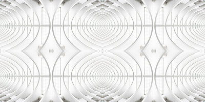 Abstract kaleidoscope pattern Liège-Guillemins station in Liège - p401m2210768 by Frank Baquet