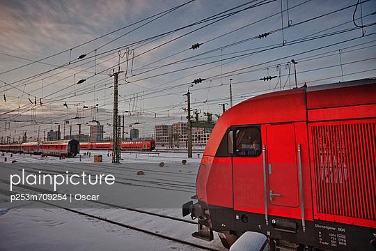 Station in Munich in winter - p253m709254 by Oscar