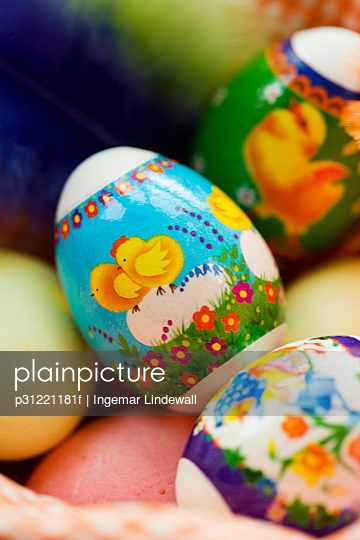 Easter eggs close-up.
