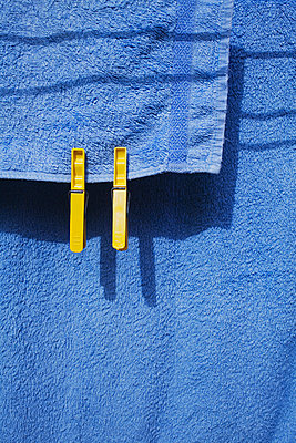 Blue towel - p1006m1051206 by Danel