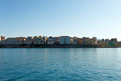 Greece, Ionic Islands, Corfu, view to coast - p300m950252f by Andreas Jontsch