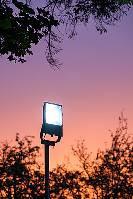 A large white LED light on a post  - p1057m2209328 by Stephen Shepherd