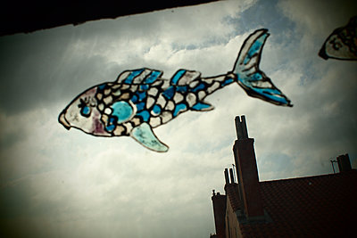 Flying fish in Lyon's sky - p927m1445754 by Florence Delahaye