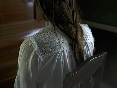 Teenager in white blouse - p945m1163023 by aurelia frey
