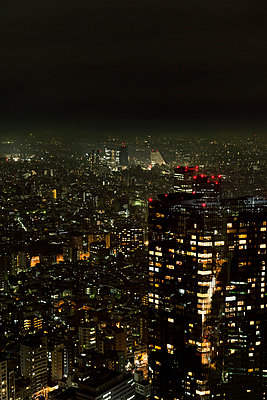 Downtown at night, Tokyo, Japan - p312m894931f by Johner
