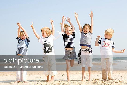 Kinder am Strand - p8940054 von Marzena Kosicka