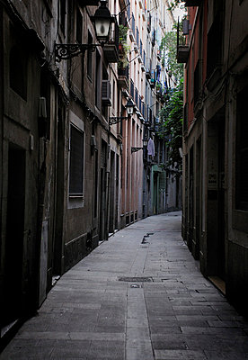 Alleyway in Barcelona - p1072m829276 by Neville Mountford-Hoare