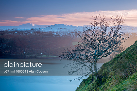 Derwentwater from Cat Bells, Lake District National Park, Cumbria, England, United Kingdom, Europe - p871m1480364 by Alan Copson
