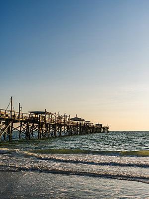 Old pier on the Atlantic Coast - p1335m1586370 by Daniel Cullen