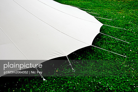 Tent in the meadow - p1523m2064352 by Nic Fey