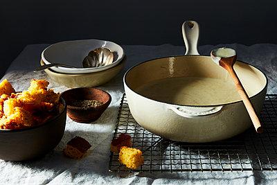 buttermilk cornbread soup - p1379m1525467 by James Ransom