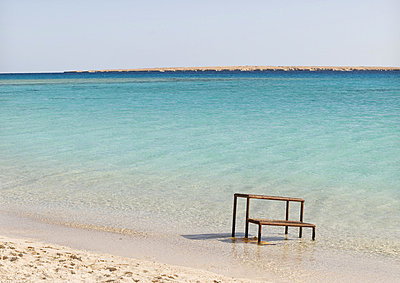Stairs on a lonely beach - p34813008 by Ulrika Finnberg
