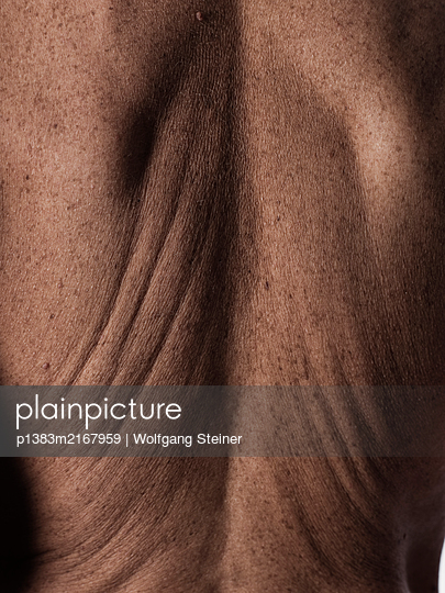 Rear view of a woman with wrinkles - p1383m2167959 by Wolfgang Steiner